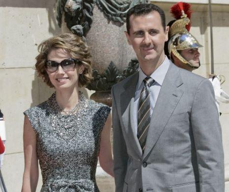 Syrian President Bashar Al Assad and his wife Asma Al Assad