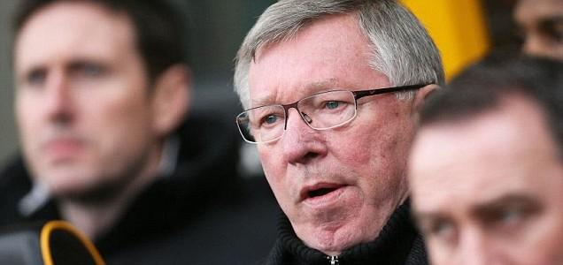 Manchester United's head coach Sir Alex Ferguson