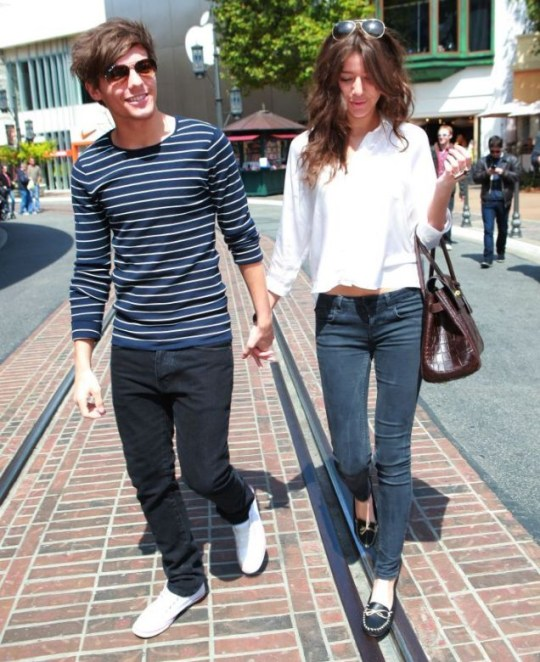 LOUIS TOMLINSON from One Direction is joined by his girlfriend Eleanor Calder in LA
