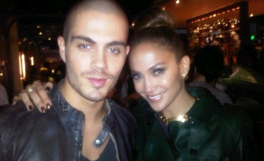 Max George form The Wanted and American Idol judge Jennifer Lopez
