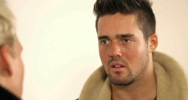 We need to talk bro: Jamie and Spencer get semi-serious on Made In Chelsea (Picture: E4)