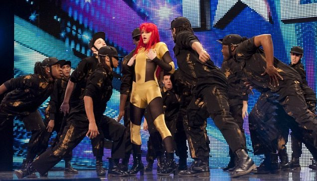 Four Corners perform to Rihanna's Only Girl In The World on Britain's Got Talent (Picture: ITV)