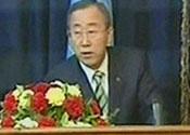 UN secretary general Ban Ki Moon in Baghdad