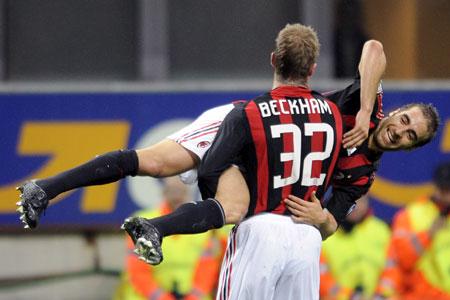Need a lift? David Beckham's team-mate Mathieu Flamini could return to Arsenal