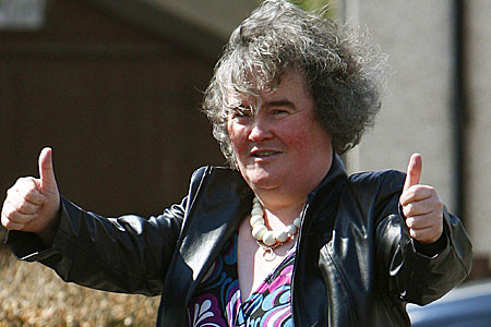 Susan Boyle: has gained that crucial Russian ultra-nationalist vote