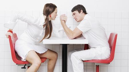 Couple Wrestling