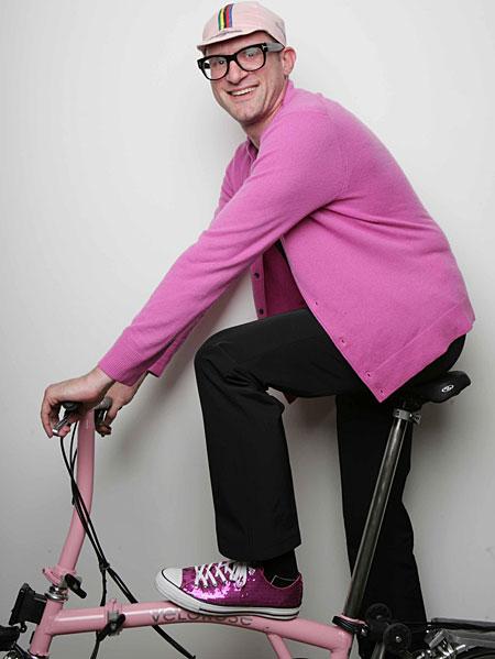 On yer bike: Plinth participant David Rosenberg