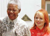 Geri Halliwell and Nelson Mandela
