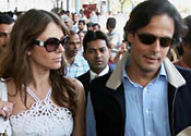 Liz Hurley and Arun Nayar