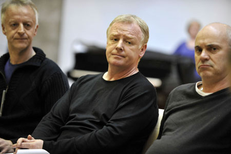 Les Dennis rehearsing for When We Are Married