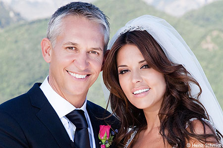 Happy couple: Gary and Danielle's big day