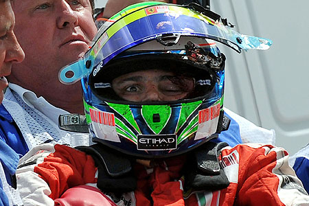 Felipe Massa fractured his skull at the Hungarian GP in July