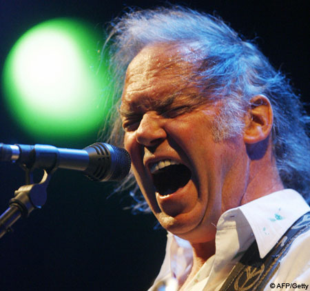 Neil Young performed at Hyde Park Calling