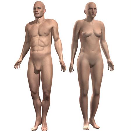 NHS naked man woman