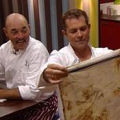 Bruce Grobbelaar and Grant Bovey in ITV1 programme Hell's Kitchen