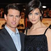 Tom Cruise and Katie Holmes watch movies on a big screen at their Beverly Hills mansion