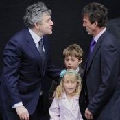 PM Gordon Brown with Paul Beshenivsky and children Lydia and Paul Beshenivsky