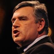 Gordon Brown defended decision to hit top earners with 50p tax rate