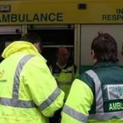 Paramedics at the Bullring Shopping Centre following a chemical alert