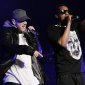 Eminem and Jay-Z performed together at the DJ Hero launch