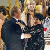 Elton John and Liza Minnelli perform on stage at the 63rd annual Tony Awards