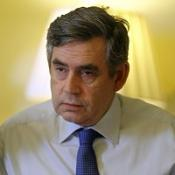 Gordon Brown pictured during a meeting of his new Cabinet