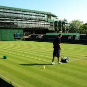 A bookmaker has reported unusual betting on a Wimbledon match