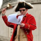 Scott Illman on the fourth plinth in Trafalgar Square