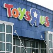 Toys R Us apologised after pornographgic images appeared on a computer in one of its stores