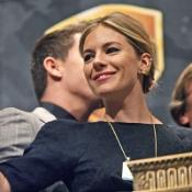 Sienna Miller rang the opening bell on the New York Stock Exchange