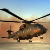A Merlin helicopter similar to the ones which are due to be deployed in Afghanistan