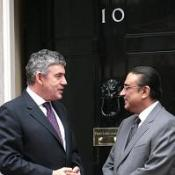 Pakistan President Asif Ali Zardari with  Gordon Brown outside 10 Downing Street