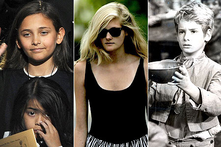 Family ties? From left, Paris Jackson, Harriet Lester and her father Mark as Oliver in the 1968 movie