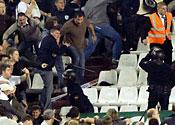 Tottenham fans in Seville