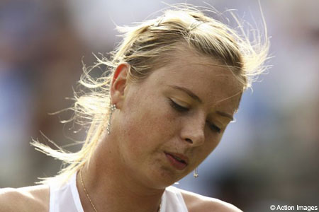 Down and out: Sharapova
