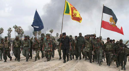 Sri Lanka troops mark the end of the civil war