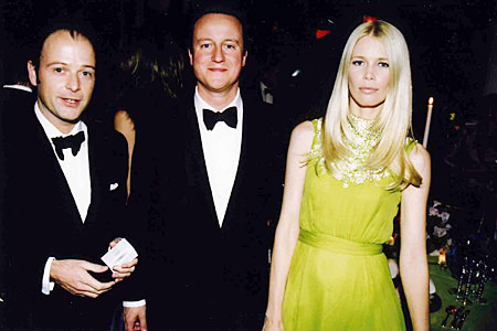 David Cameron, Matthew Vaughn and Claudia Schiffer