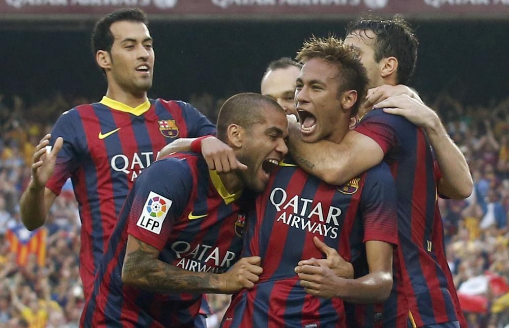 'Take that racists!' Neymar hails Dani Alves for biting back at La Liga 'morons'