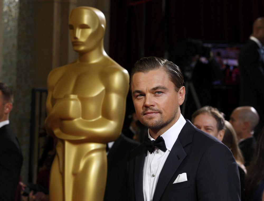 This Oscar winner is using their gold statue to take the mick out of Leonardo DiCaprio