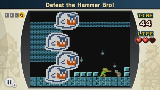 NES Remix 2 (Wii U) - what's Link doing there?