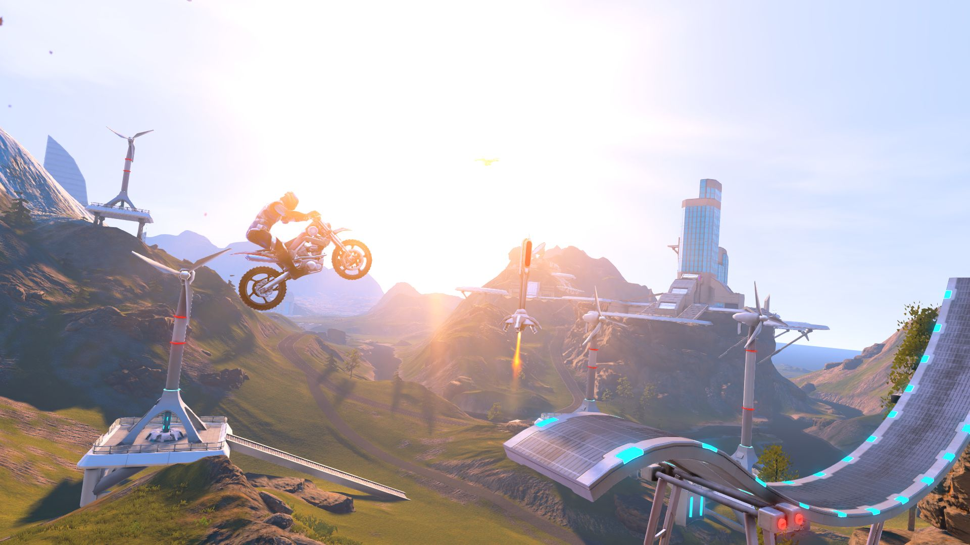 Trials Fusion - J. J. Abrams was right: there is a lot of lens flare in the future