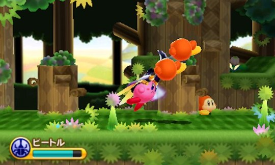 Kirby: Triple Deluxe (3DS) - beetle mania