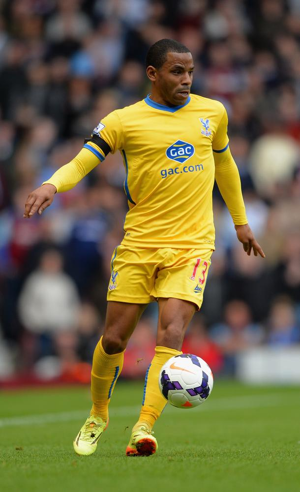 LONDON, ENGLAND - APRIL 19: Jason Puncheon of Crystal Palace during the Barclays Premier League match between West Ham United and Crystal Palace at Boleyn Ground on April 19, 2014 in London, England. Christopher Lee/Getty Images