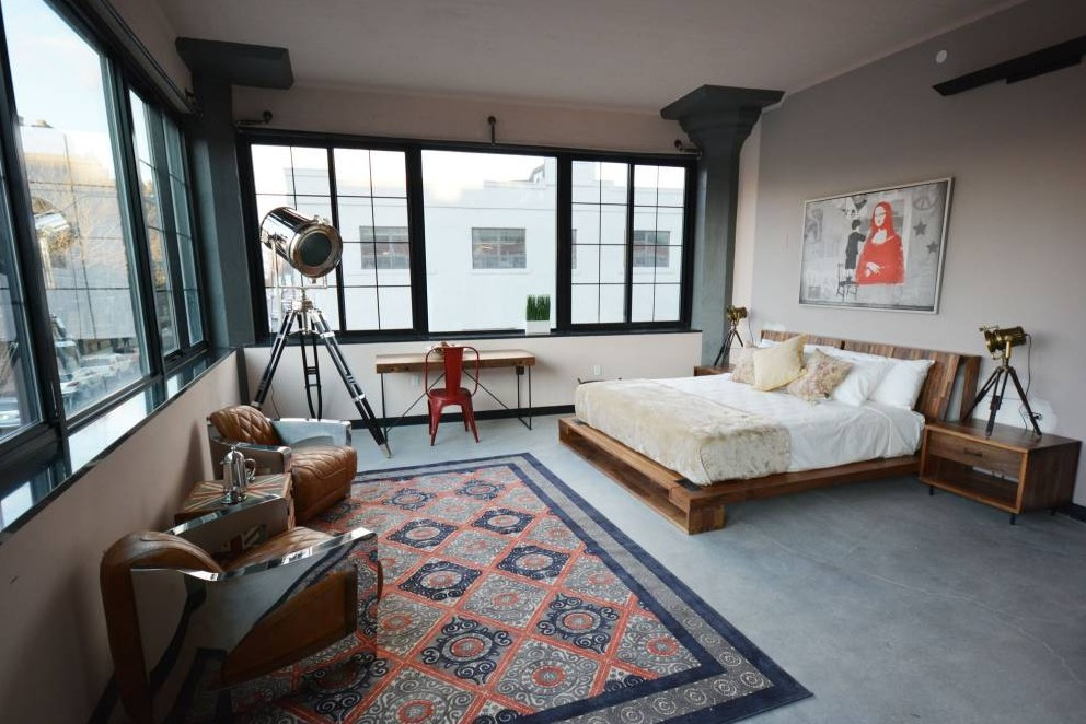 A bedroom in The Paper Factory Hotel in New York (Picture: Supplied)