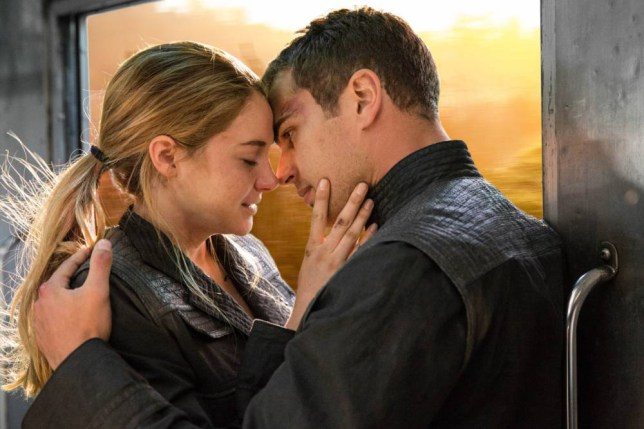 Hermione kisses Harry in Divergent - no, hang on, that's not right (Picture: Summit Entertainment)