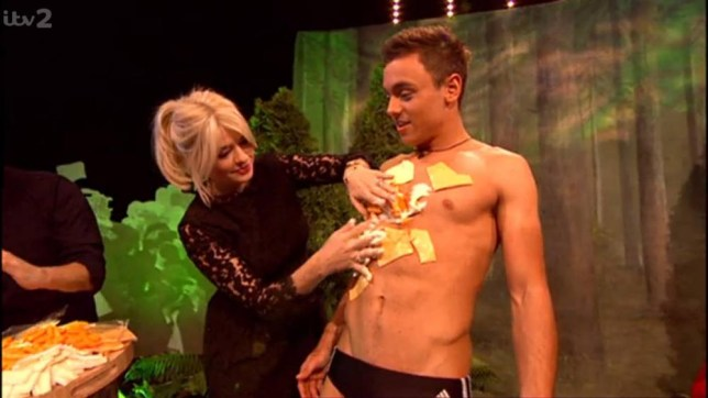 Tom Daley and Holly Willoughby Celebrity Juice 2014