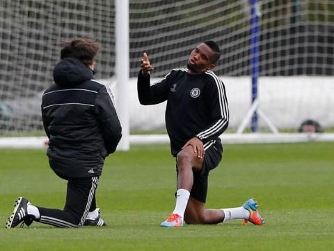 Samuel Eto'o returns to Chelsea training ahead of Paris Saint-Germain clash