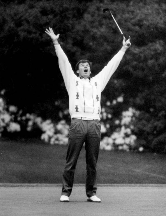 Nick Faldo's memorable first Masters triumph proved to be a nightmare for Scott Hoch