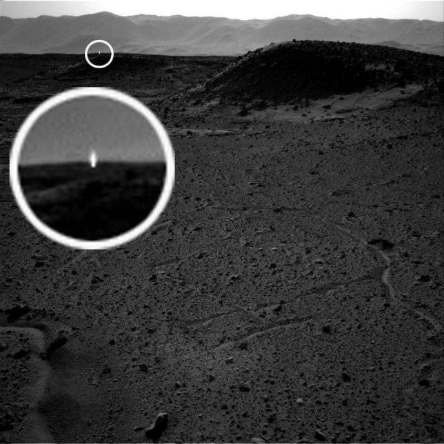 Does this mystery white light captured by Nasa's Curiosity rover suggest there's life on Mars?