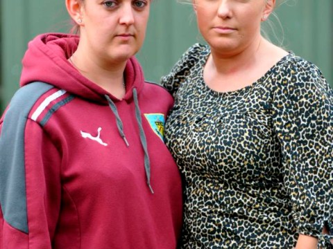 Injury-time winners: Football-mad sisters walk away from M1 smash to watch match
